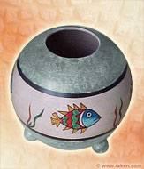 """شراء Vase rond """"Poisson - Chamla"""""""