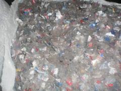 PET flakes (clear , transparent color)
