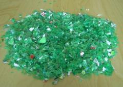 PET flakes (green color)