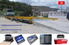 Pont-bascule électronique pèse camions de 10 à 150 tonnes (Tunisie pont bascule)