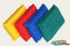 Les tompons à récurer en fibre