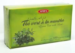 Thé vert à la menthe infusion (100x1,5g)