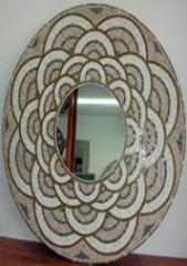 Oval Mosaïque Miroirs