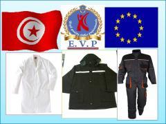 Vetement de  travail   professionnel  TUNISIA
